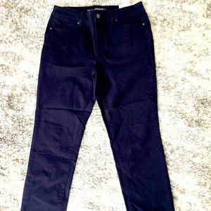 Chico's NWT navy blue stretch jeggings Small